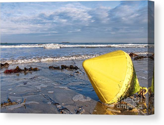 France Canvas Print featuring the photograph Buoy At Low Tide by Olivier Le Queinec