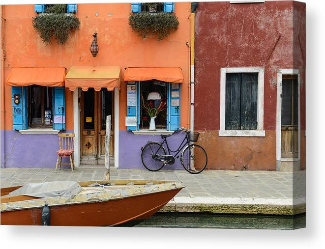 Ancient Canvas Print featuring the photograph Burano Italy by Brandon Bourdages