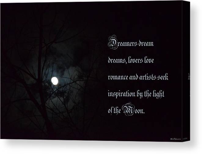 By The Light Of The Moon Canvas Print featuring the photograph By The Light Of The Moon by Maria Urso
