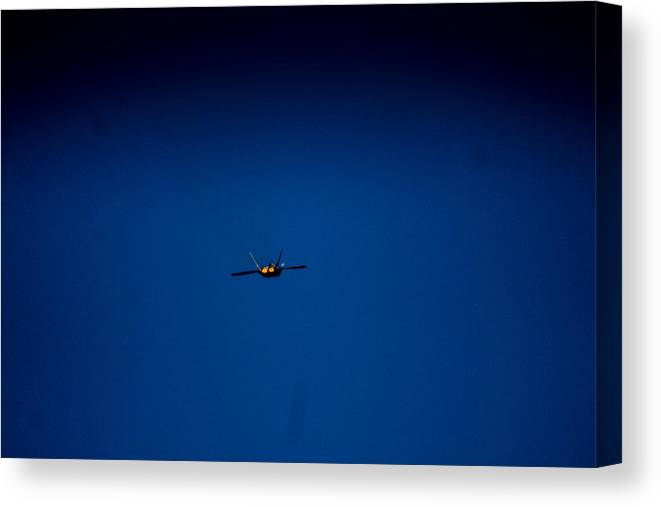 Canvas Print featuring the photograph Bye by Sue Conwell