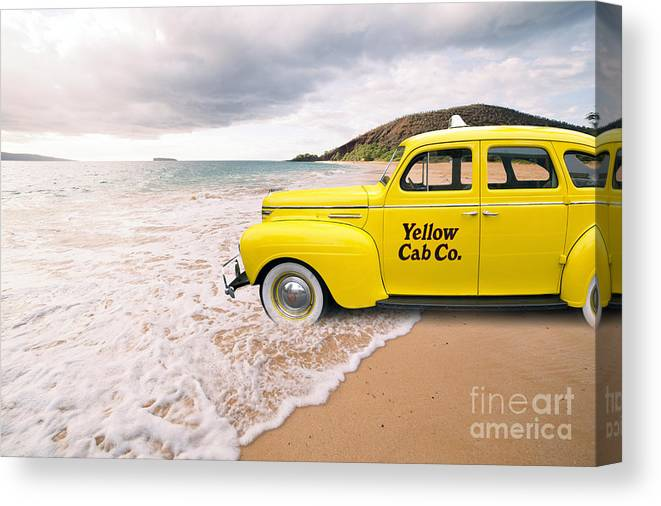 Hawaii Canvas Print featuring the photograph Cab Fare To Maui by Edward Fielding