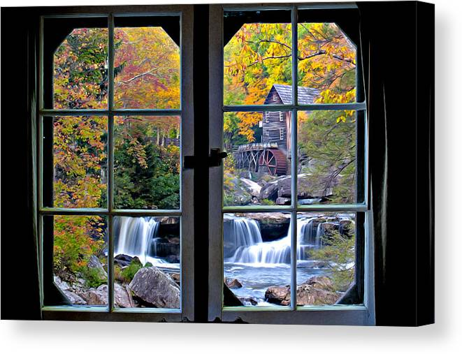 Babcock State Park Canvas Print featuring the photograph Cabin 11 At Babcock by Williams-Cairns Photography LLC