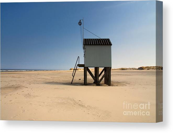 Beach Canvas Print featuring the photograph Cabin With A View. by Jan Brons