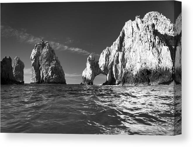 Los Cabos Canvas Print featuring the photograph Cabo In Black And White by Sebastian Musial