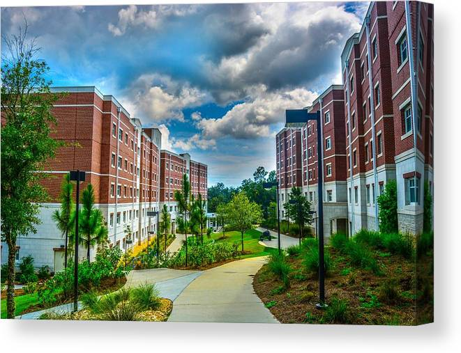 Uwf Canvas Print featuring the photograph Campus Life by Jon Cody