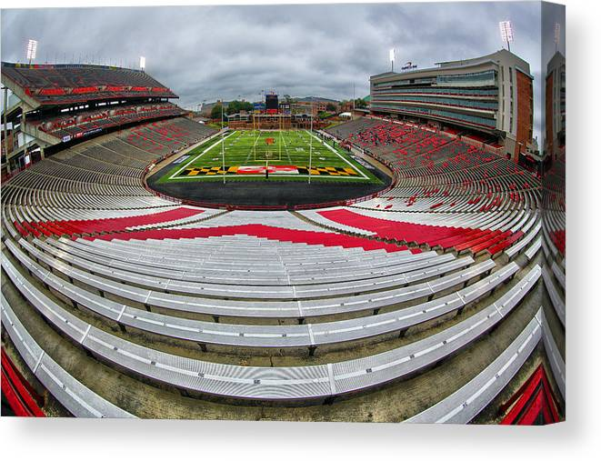 Capitol One Field Canvas Print featuring the photograph Capitol One Field by Mitch Cat