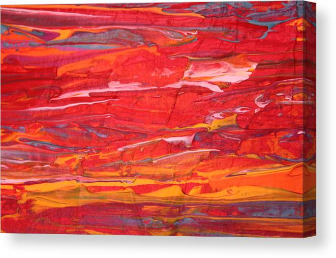Modern Abstract Canvas Print featuring the painting Caribbean Dreams 2 by Shelly Sexton