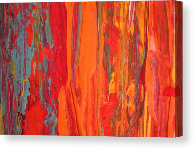 Modern Abstract Canvas Print featuring the painting Caribbean Dreams by Shelly Sexton