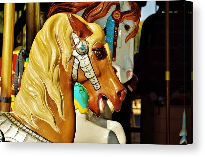 Carousel Horse Canvas Print featuring the photograph Carousel Horse 3 by Jean Goodwin Brooks