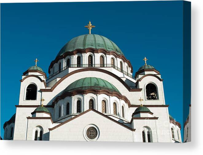 Adornment Canvas Print featuring the photograph Cathedral Of Saint Sava In Belgrade Serbia by Aleksandar Mijatovic