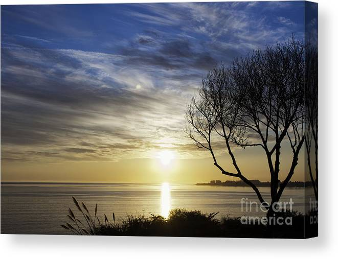 Print Canvas Print featuring the photograph cf 519 A Sunset Over Monterey Bay by Chris Berry