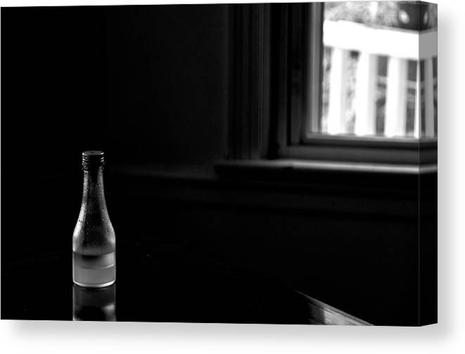 Bottle Canvas Print featuring the photograph Chiaroscuro by Guillermo Hakim
