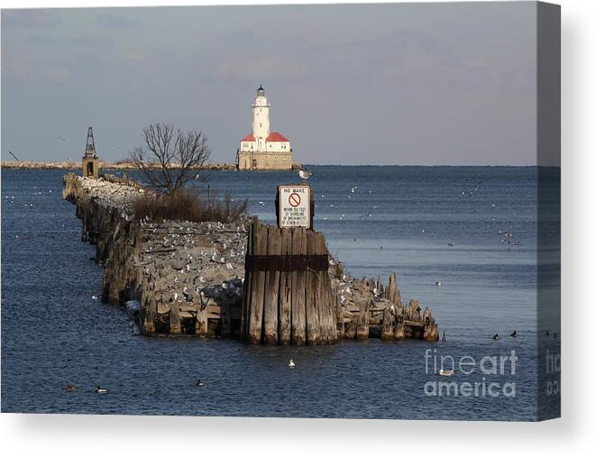 Chicago Canvas Print featuring the photograph Chicago Lighthouse by Michael Paskvan