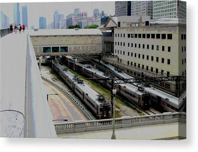 Chicago Canvas Print featuring the photograph Chicago - South Shore Train Yard by Greg Thiemeyer