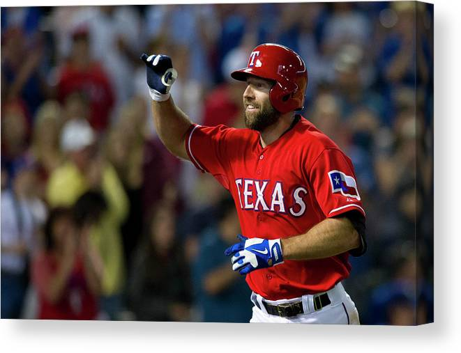 American League Baseball Canvas Print featuring the photograph Chicago White Sox V Texas Rangers by Cooper Neill