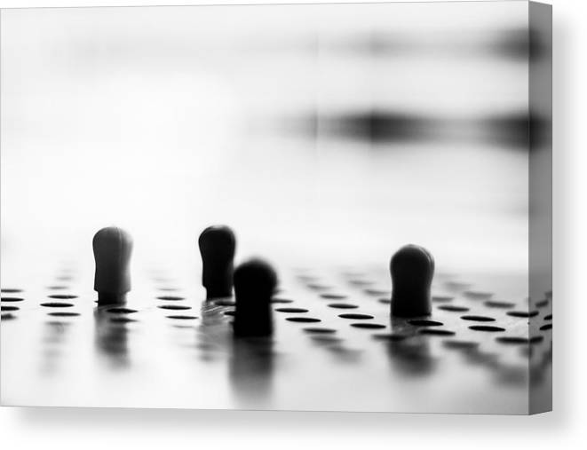 Pegs Canvas Print featuring the photograph Chinese Checkers by Steve Johnson