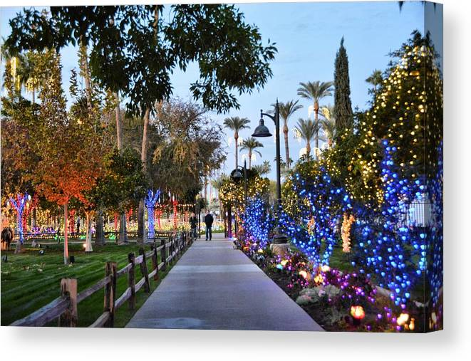Christmas Canvas Print featuring the photograph Christmas Walk by Richard Jenkins