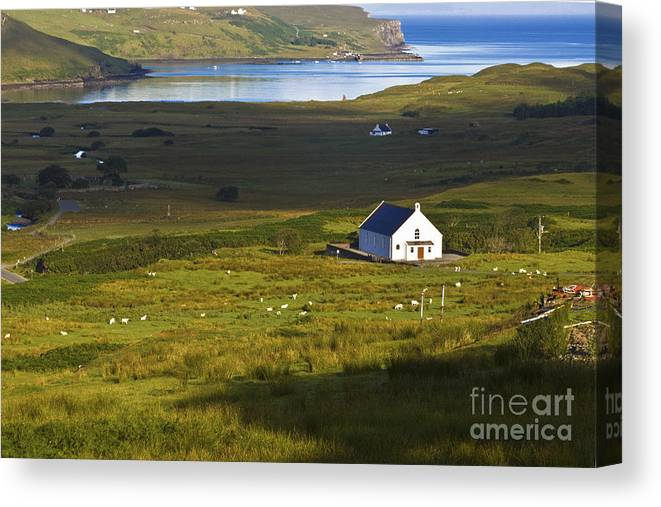 White Canvas Print featuring the photograph Church In The Glen by Diane Macdonald