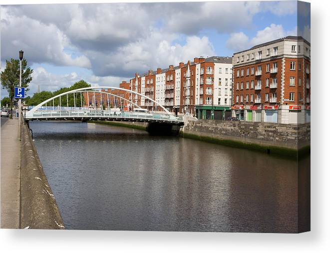Dublin Canvas Print featuring the photograph City Of Dublin In Ireland by Artur Bogacki