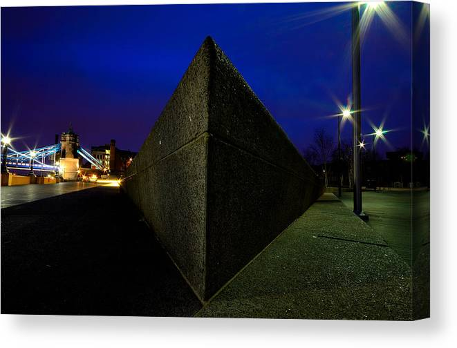 City Scape Canvas Print featuring the photograph City Wedge by David Howarth