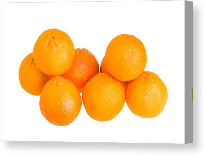 Food Canvas Print featuring the photograph Clementine Oranges by John Trax