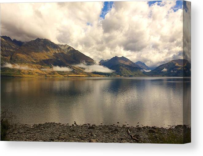 New Zealand Canvas Print featuring the photograph Clouds Over Wakatipu #1 by Stuart Litoff