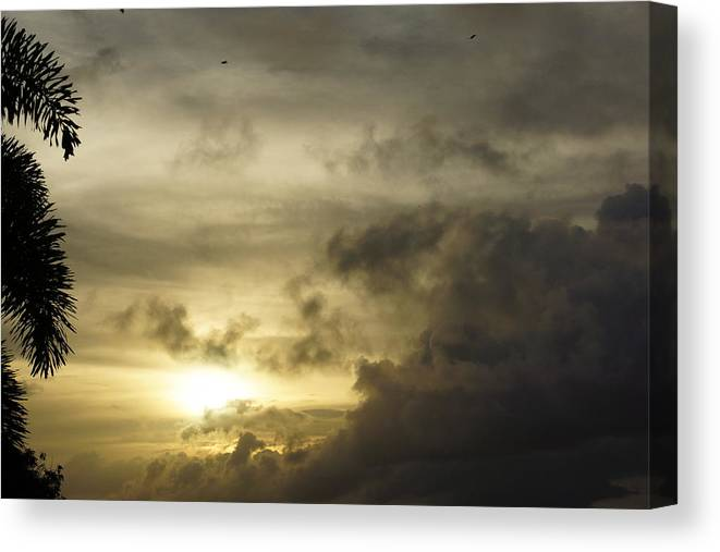Canvas Print featuring the photograph Cloudy Sunset Photo by Epic Luis Art
