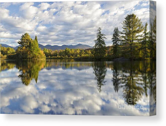 Coffin Pond Canvas Print featuring the photograph Coffin Pond - Sugar Hill, New Hampshire by Erin Paul Donovan