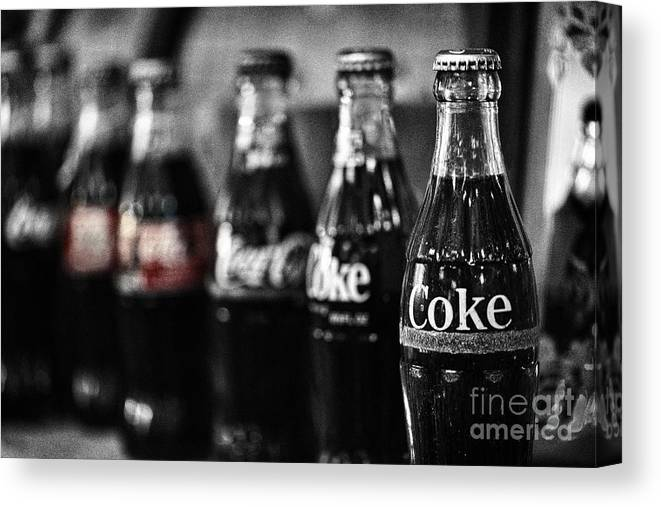 Coke Canvas Print featuring the photograph Coke by Cindy Tiefenbrunn
