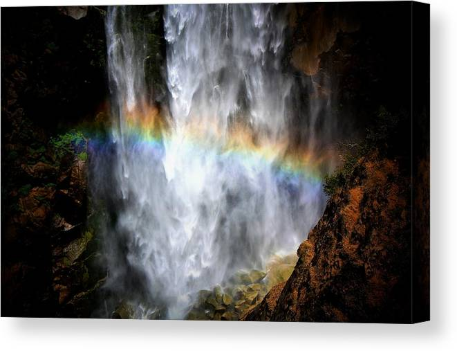 Waterfall Canvas Print featuring the photograph Coldplay by Karen Scovill