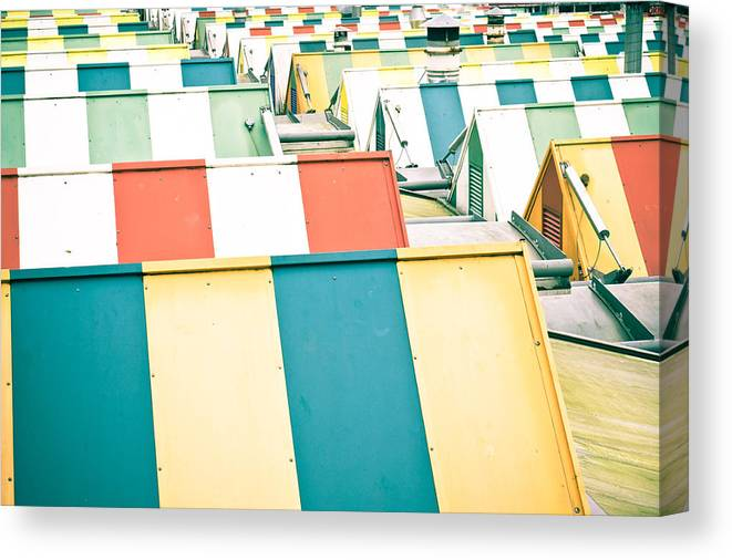 Abstract Canvas Print featuring the photograph Colorful Roofs by Tom Gowanlock
