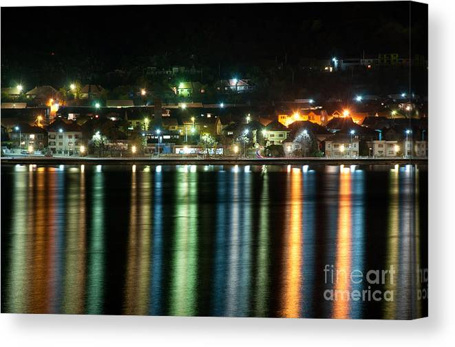 Night Canvas Print featuring the photograph Colourful Night by Ciprian Kis