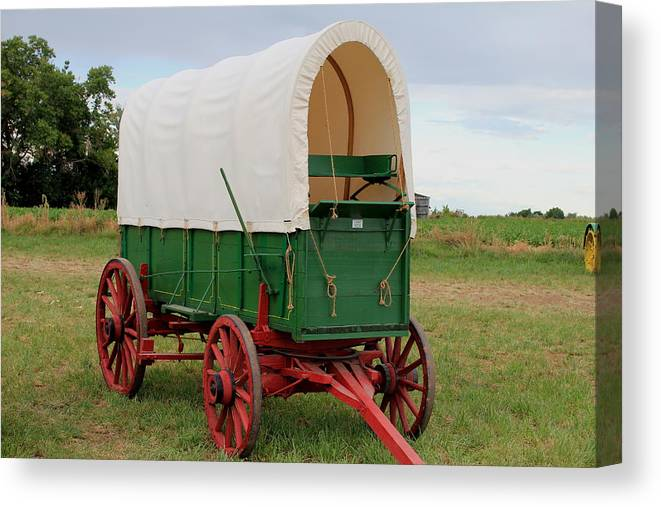 Covered Canvas Print featuring the photograph Covered Wagon by Trent Mallett