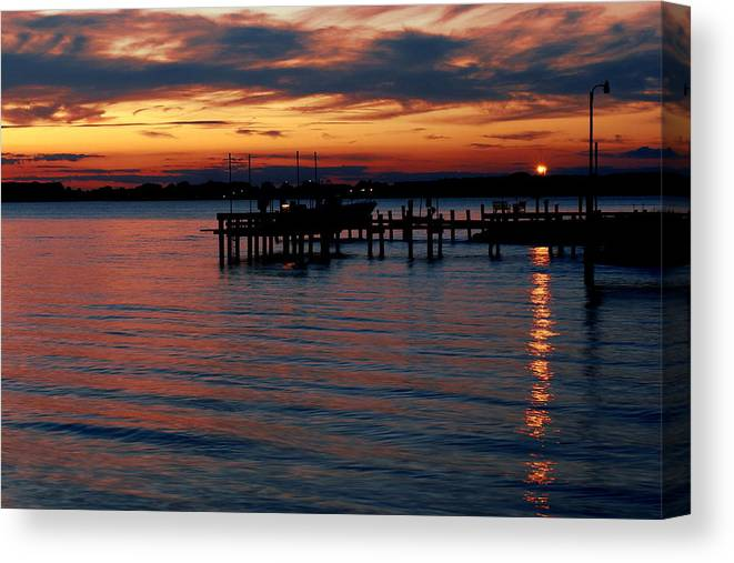 Chesapeake Canvas Print featuring the photograph Crab Alley Sunset by Doug Edmunds