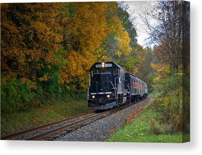 Nature Canvas Print featuring the photograph Cuyahoga Valley Scenic Railroad 2 by Denny Beck