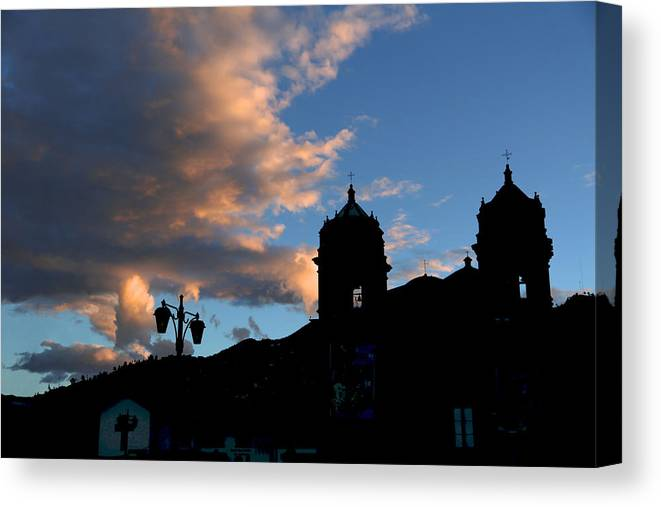 Peru Canvas Print featuring the painting Cuzco by Chris Perry