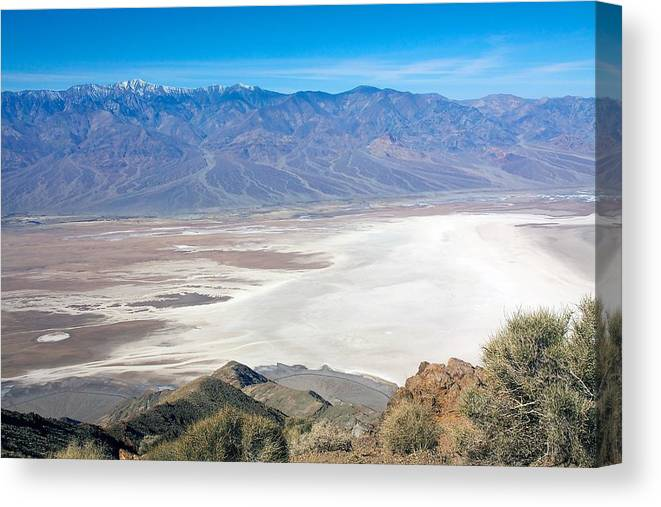 Death Valley Canvas Print featuring the photograph Dante's View #3 by Stuart Litoff