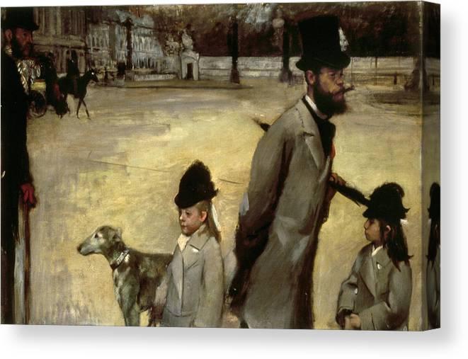 1875 Canvas Print featuring the painting Degas Place De La Concorde by Granger