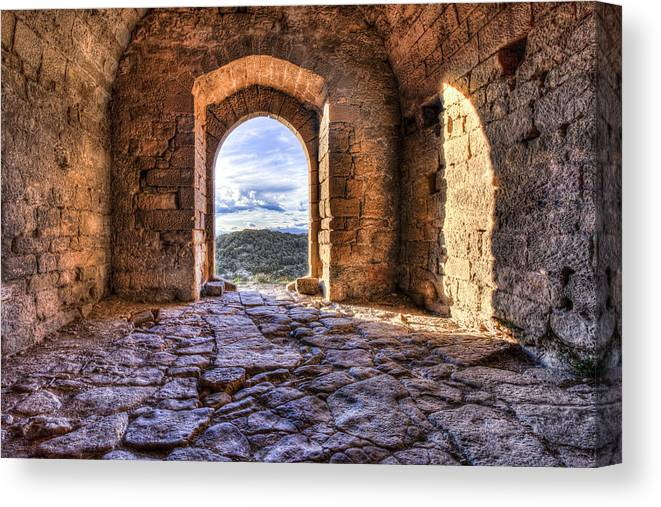 Door Canvas Print featuring the photograph Door Down To Earth by Marc Garrido