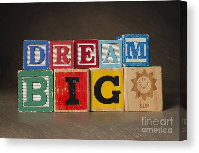 Dream Big Canvas Print featuring the photograph Dream Big by Art Whitton