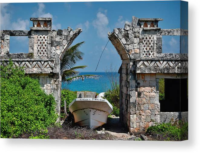 Dry Dock Canvas Print featuring the photograph Dry Dock by Skip Hunt