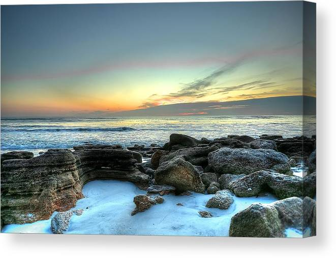 Sunrise Canvas Print featuring the photograph Early Morning by DNK Photos