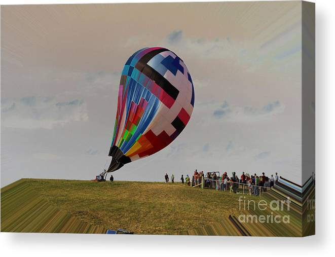 Balloons Canvas Print featuring the photograph Earth Is Flat by Rick Rauzi