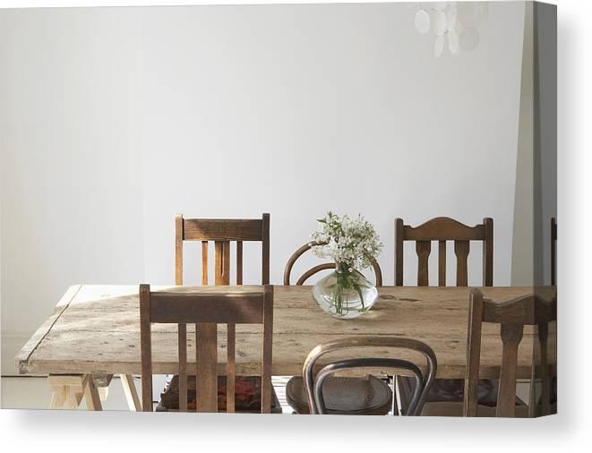 Empty Dining Room Canvas Print