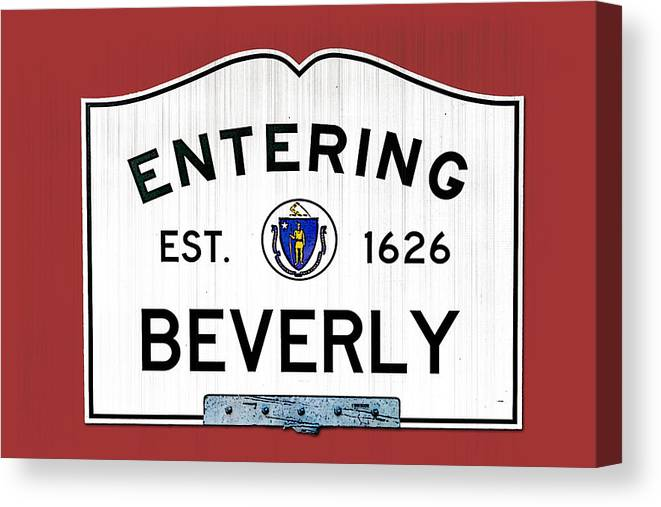 Beverly Canvas Print featuring the photograph Entering Beverly by K Hines