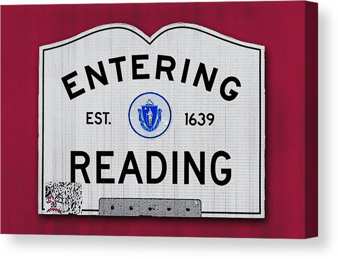 Reading Canvas Print featuring the photograph Entering Reading by K Hines