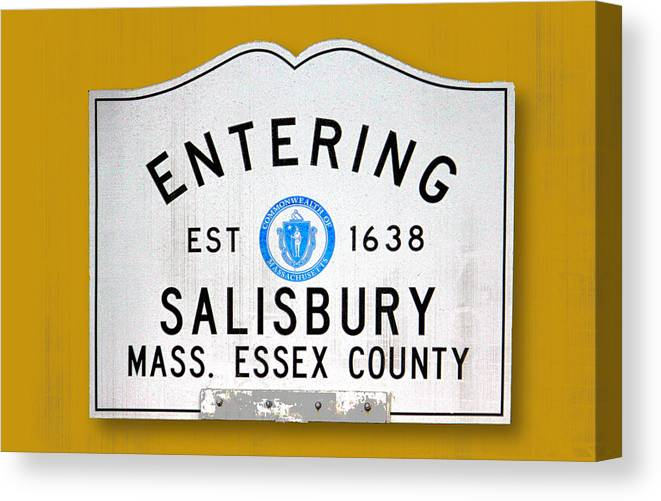 Salisbury Canvas Print featuring the photograph Entering Salisbury by K Hines