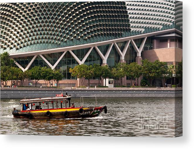 Singapore Canvas Print featuring the photograph Esplanade Theatres 03 by Rick Piper Photography