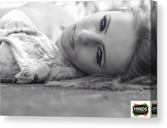 Black & White Canvas Print featuring the photograph Eyes by Mark Hinds