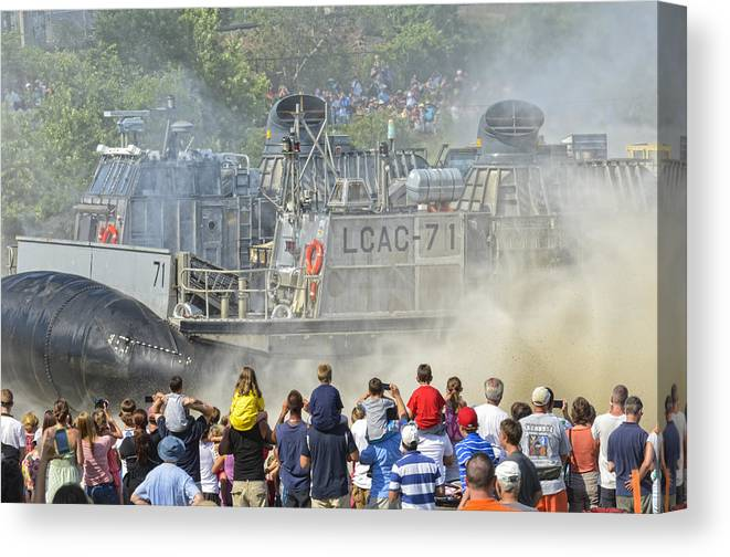 Hovercraft Canvas Print featuring the photograph Fabulous Hovercraft Opsail 2012 by Marianne Campolongo